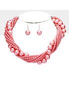 Twisted Truth Pearl Necklace Set