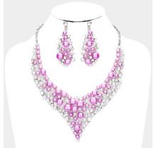 Downward Pearls Necklace Set