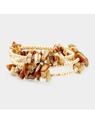 Spiraling Stone Bracelet