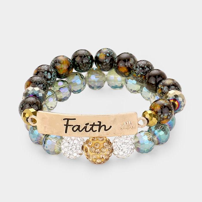 Keep The Faith Bracelet Set