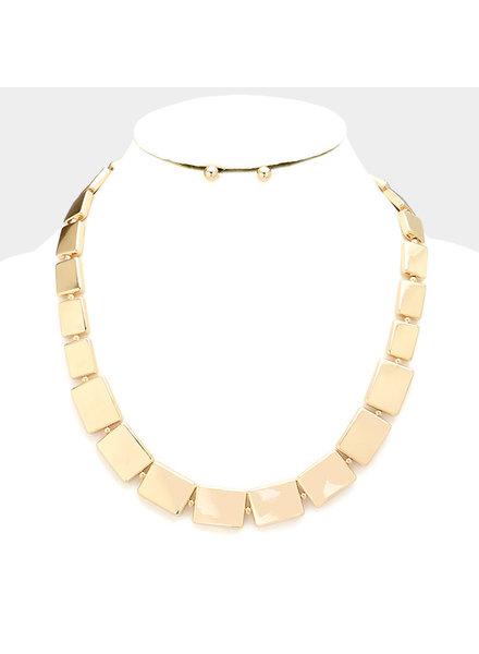 Blocked Links Necklace Set