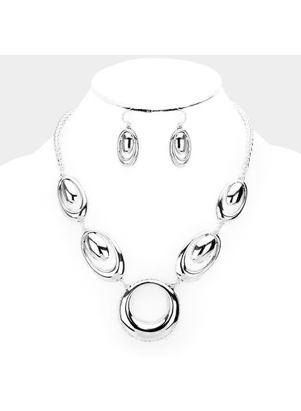 Oval Drops Necklace Set