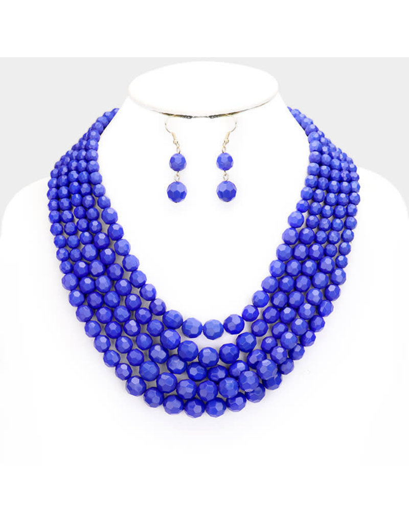 Beaded Layers Necklace Set