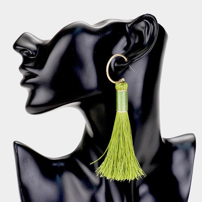 Looped Tassel Earrings
