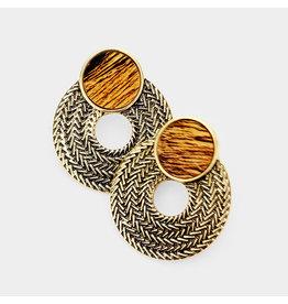 Wood Grain Earrings