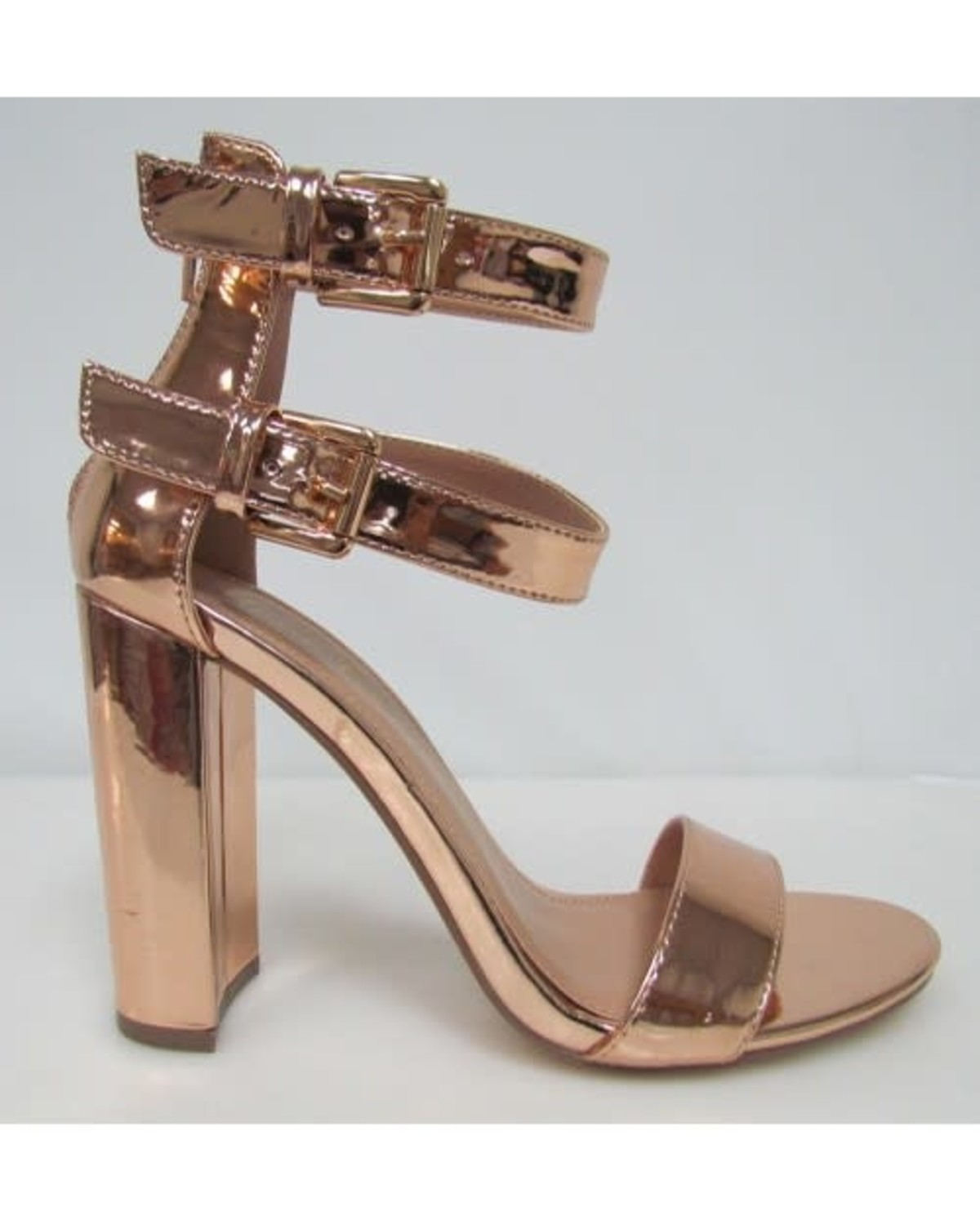 Good Times Block Heels Rose Gold