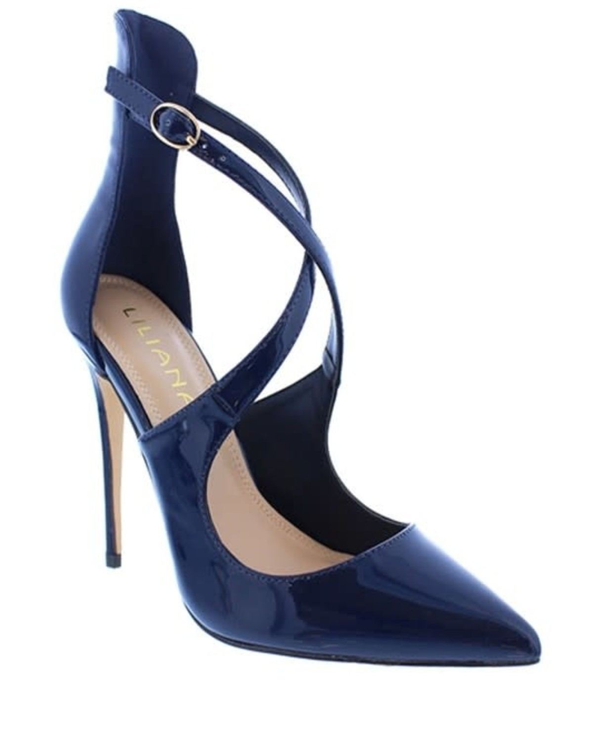 Cross The Path Patent Heels Navy