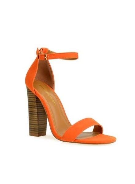 Block It Out Heels Orange