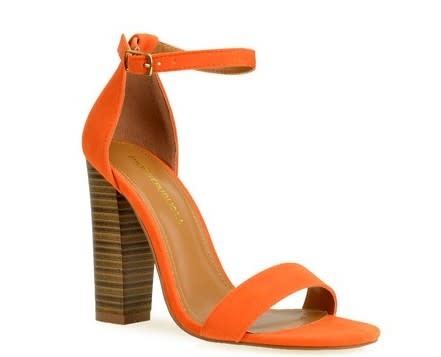 Block It Out Heels Orange