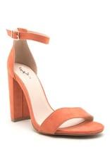 Ash Coral Block Heels