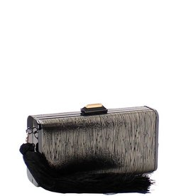 Different Breed Tassel Clutch