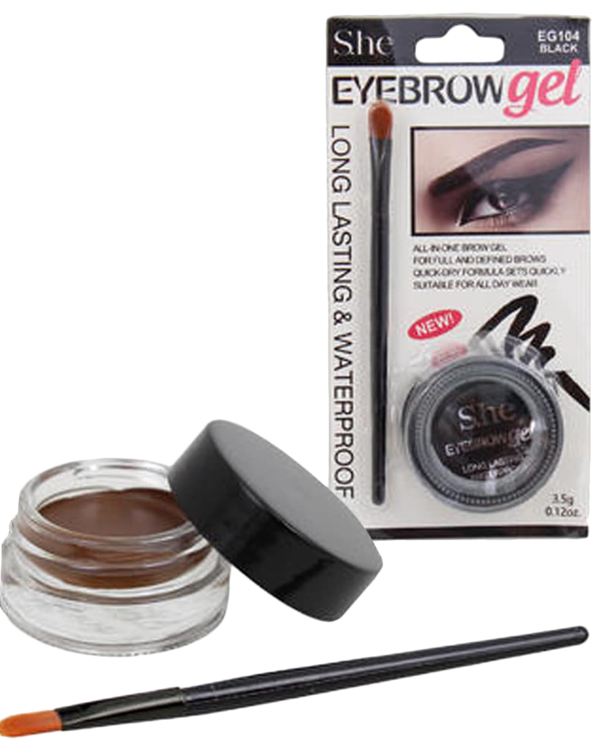 Eyebrow Gel Kit (Dark Brown)