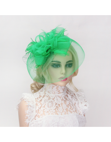 Petal Beauty Fascinator Green