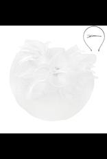Petal Beauty Fascinator White