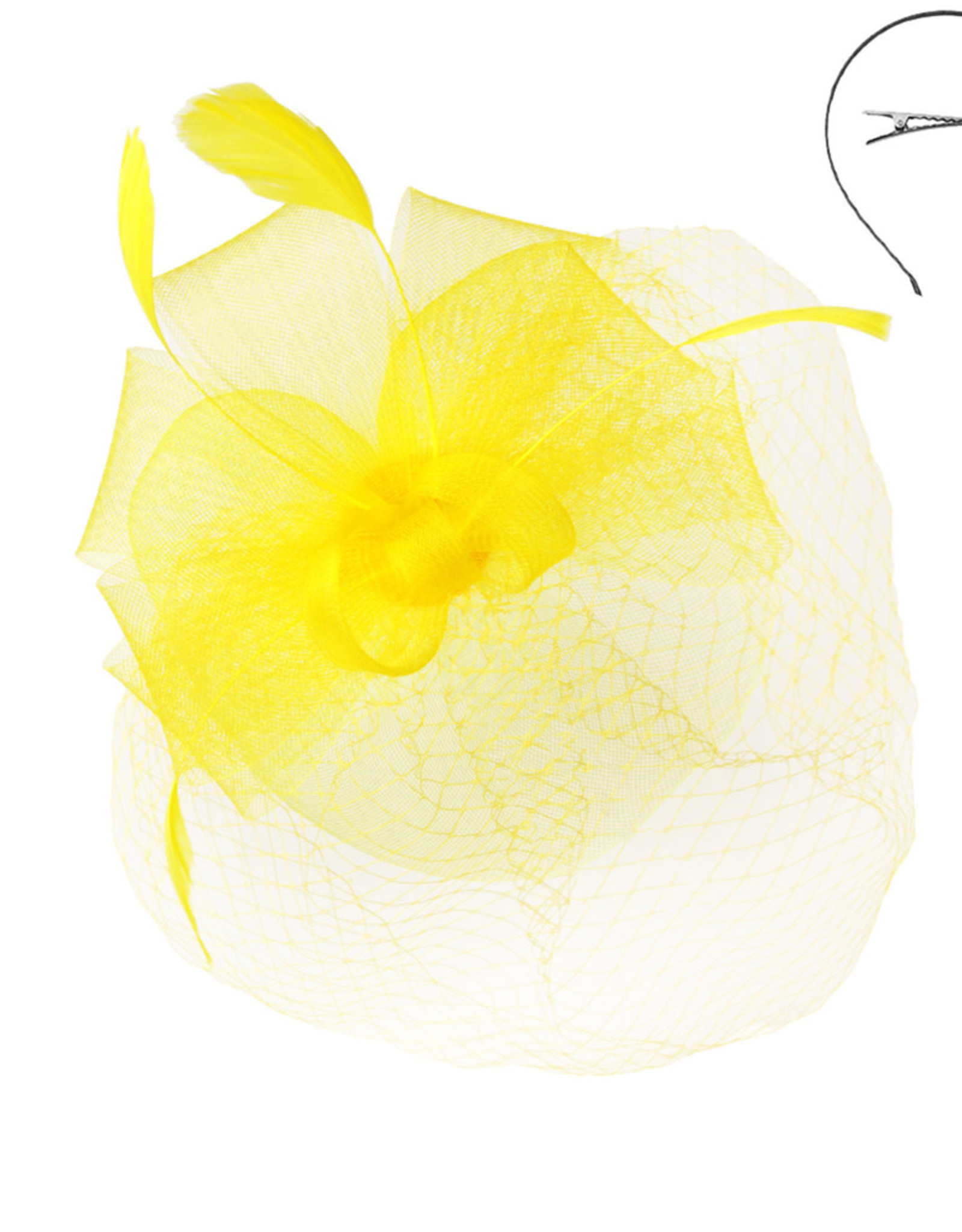 Bow and Beautiful Fascinator Yellow