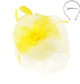 Bow and Beautiful Fascinator Yellow