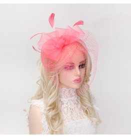 Bow and Beautiful Fascinator Coral