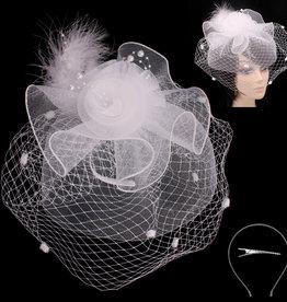 Pearl Dreams Fascinator White