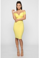 Attention Getter Off Shoulder Bodycon Dress