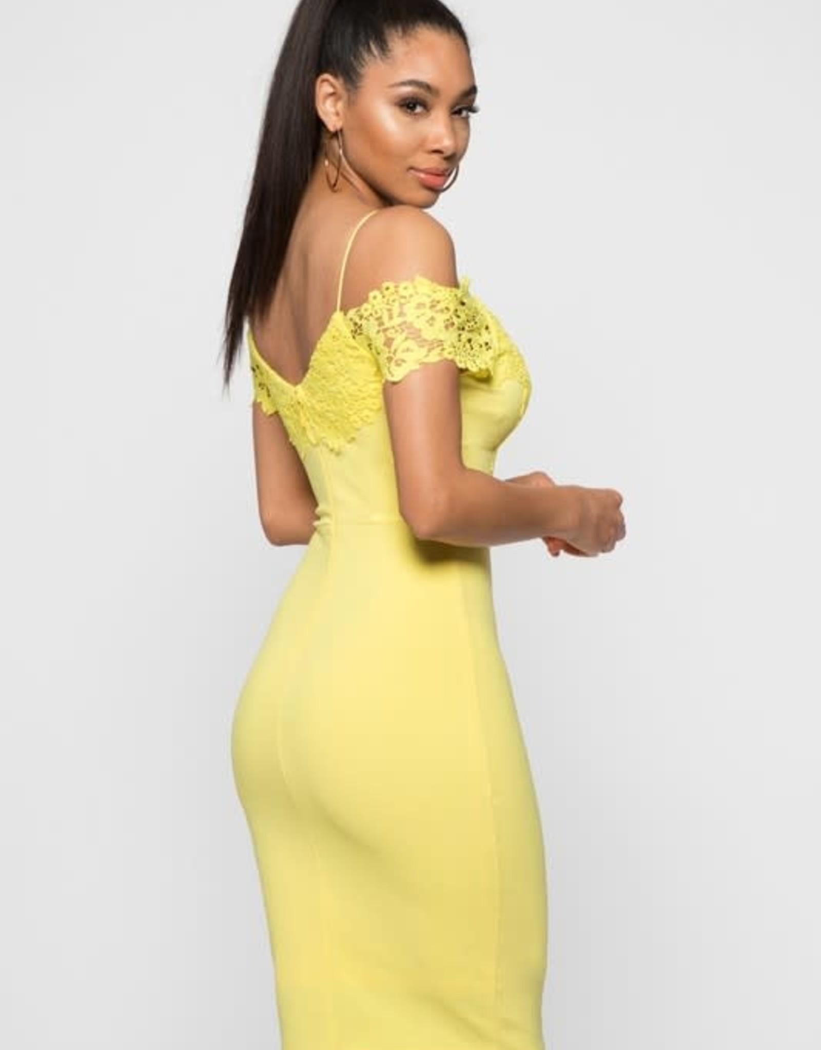 Attention Getter Off Shoulder Bodycon Dress