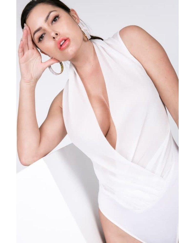 Set It Off Bodysuit White