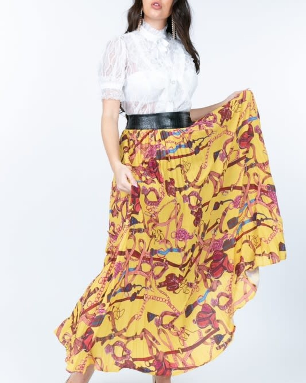 Summer Breeze Pleated Skirt