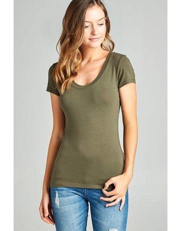 True Olive Round Neck T-Shirt