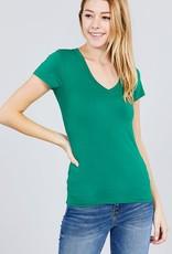 Kelly Green V Neck T-Shirt