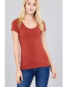 Raw Clay Round Neck T-Shirt