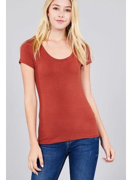 Raw Clay Round Neck T-Shirt