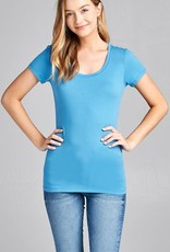 Blue Shadow Round Neck T-Shirt Long