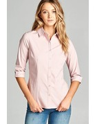 Light Mauve Buttoned Collar Shirt