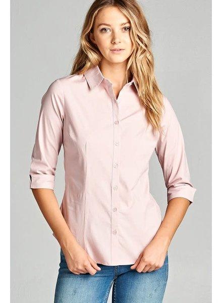 Light Mauve Buttoned Collar Shirt