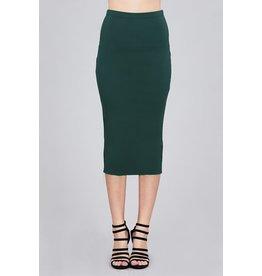 Viridian Green Midi Pencil Skirt