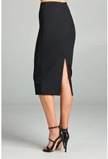 Black Midi Pencil Skirt