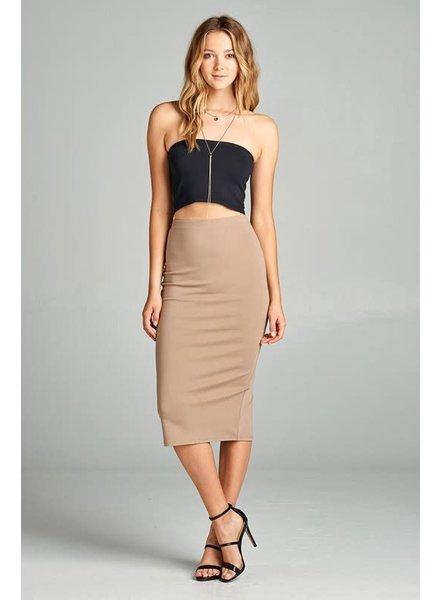 Mocha Midi Pencil Skirt