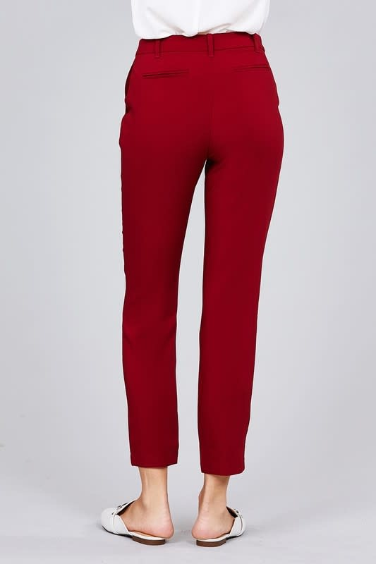 Burgundy Back 2 Work Pants