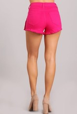 Attention On Me Shorts Hot Pink