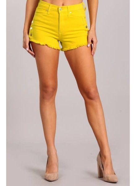 Attention On Me Shorts Mustard