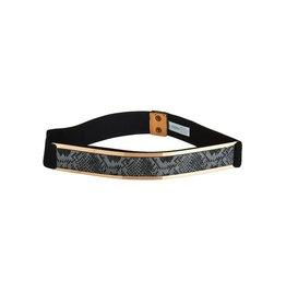 Fearless Snakeskin Stretch Belt