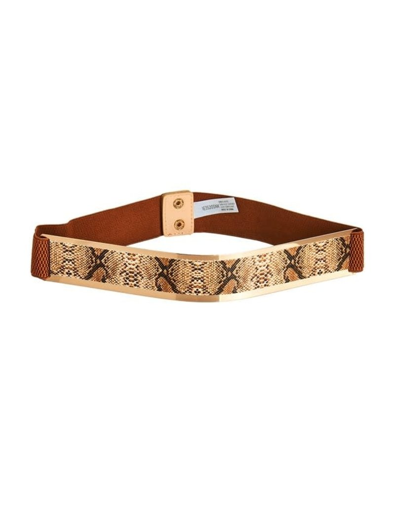Fearless Snakeskin Stretch Belt