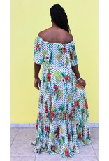 Lost In The Tropics Maxi Dress White