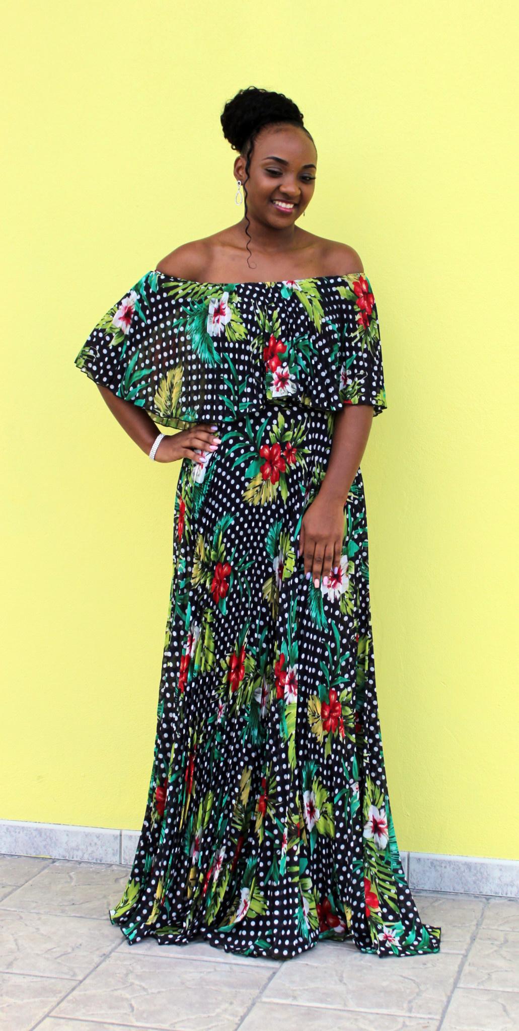 Lost In The Tropics Maxi Dress Black