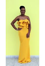 Sun Beam Ruffle Maxi Dress