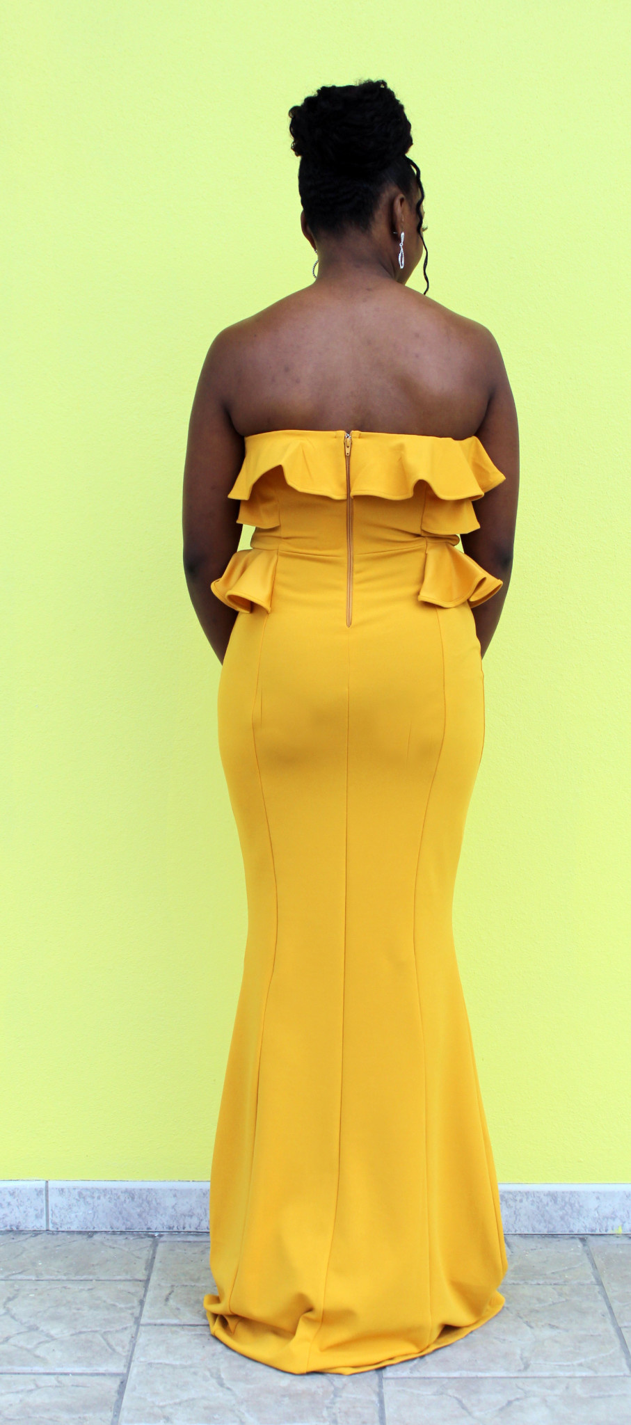 Sun Beam Ruffle Maxi Dress