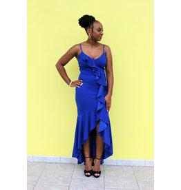 Sweet Lies Ruffle Maxi Dress Royal Blue