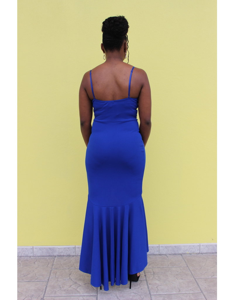 Sweet Lies Ruffle Maxi Dress Royal Blue
