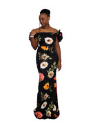 Exotic Nights Floral Maxi Dress