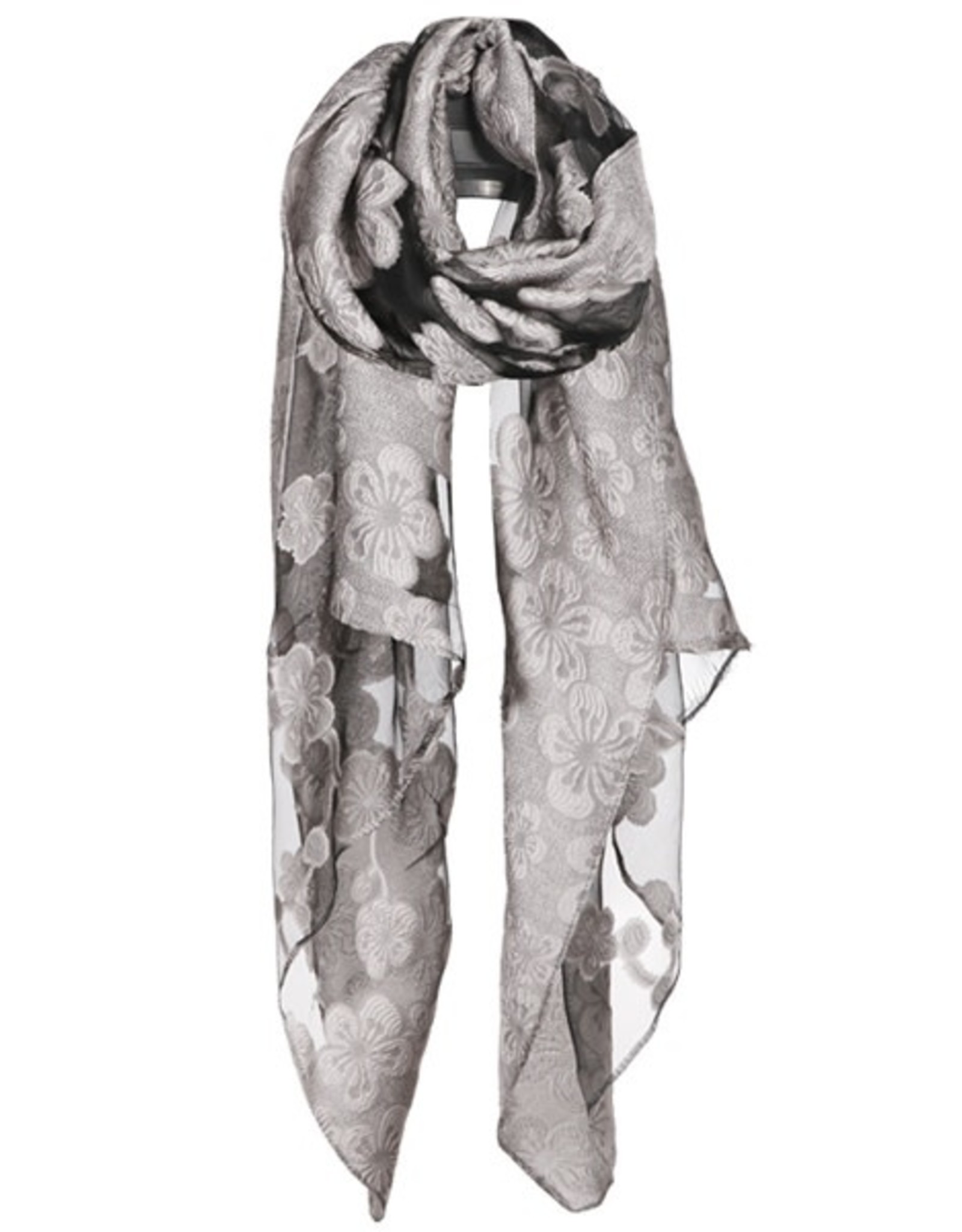 Lost Time Mesh Floral Scarf
