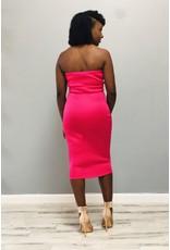 So Amazing Ruffle Dress Pink